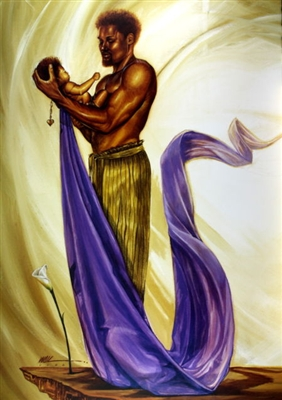 Joy Of His World By Wak Kevin A Williams 24x36 Black Art