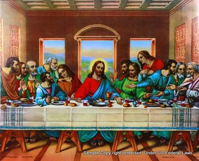 8x10 Inch Last Supper African American Black Art Faith