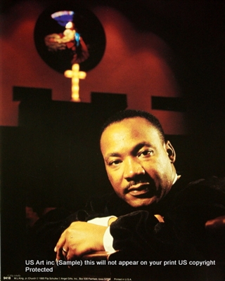 8x10 Inch Martin Luther Kg At Church African American