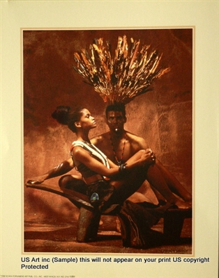 8x10 Inch African Couple African American Black Art Print