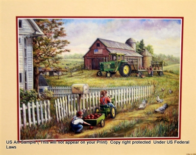 8x10 Inch John Deere Fine Art Print And Poster In Farms And Country